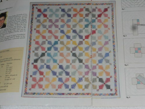 Pineapple Slices Foundation Paper Pieced Quilt Pattern from Magazine