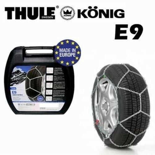 Chaines Neige pour Voitures Konig Thule E9 9mm Mis 155/80-13 Lire Uni