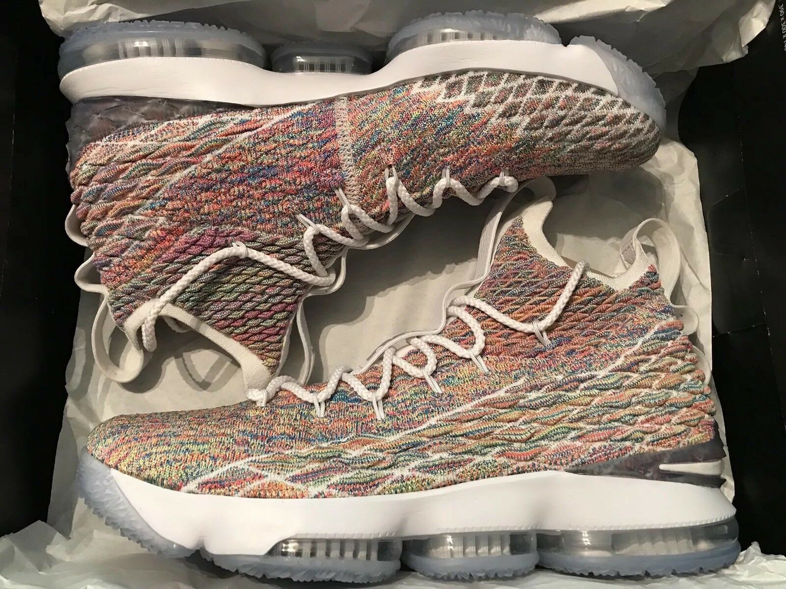 buy popular 6ca47 a8b50 Nike LeBron 15 XV Fruity Pebbles Pebbles Pebbles Multicolor Size 13 897648- 900 New DS