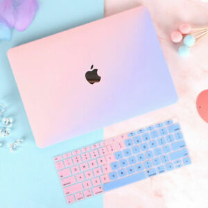 """2in1 Double Color Hard Case + Keyboard Skin For Macbook Air Pro 11"""" 12"""" 13"""" 15 """""""