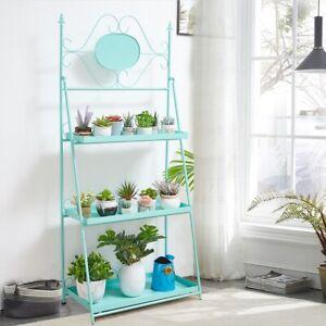 Macaroon 3-Ladder Shelf Plant Stand Bookshelf Storage Rack Shelves Living Room