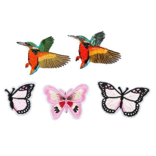 Embroidery Butterfly Sew On Patch Embroidered Fabric Applique Patch Birds 1PC LD