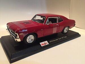 New-1970-Chevrolet-Nova-SS-Coupe-Die-Cast-Maisto-Special-Edition-1-18-scale