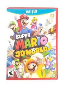 Super Mario 3D World (Nintendo Wii U, 2013) VG Condition, Complete, CIB, TESTED