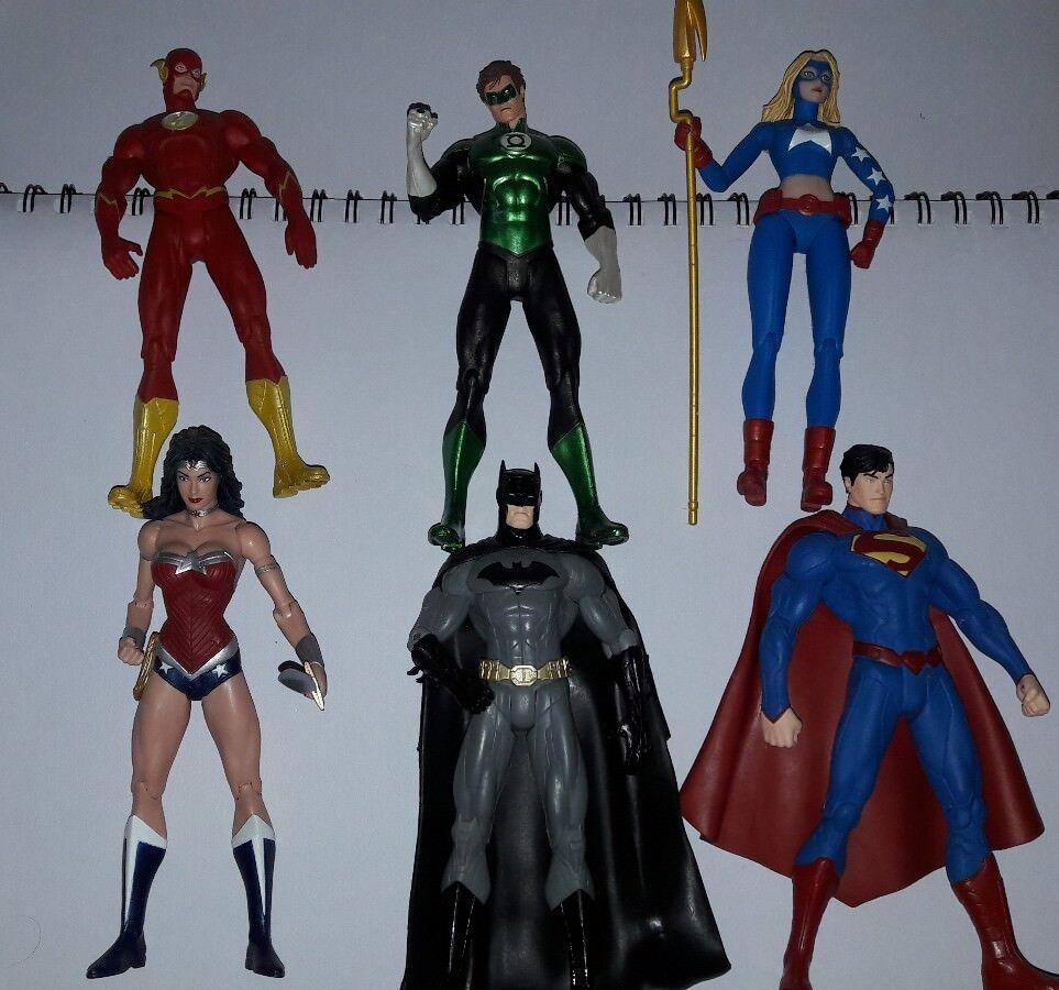 Dc job lot 6x figures batman superman wonder woman flash Grün lantern new 52