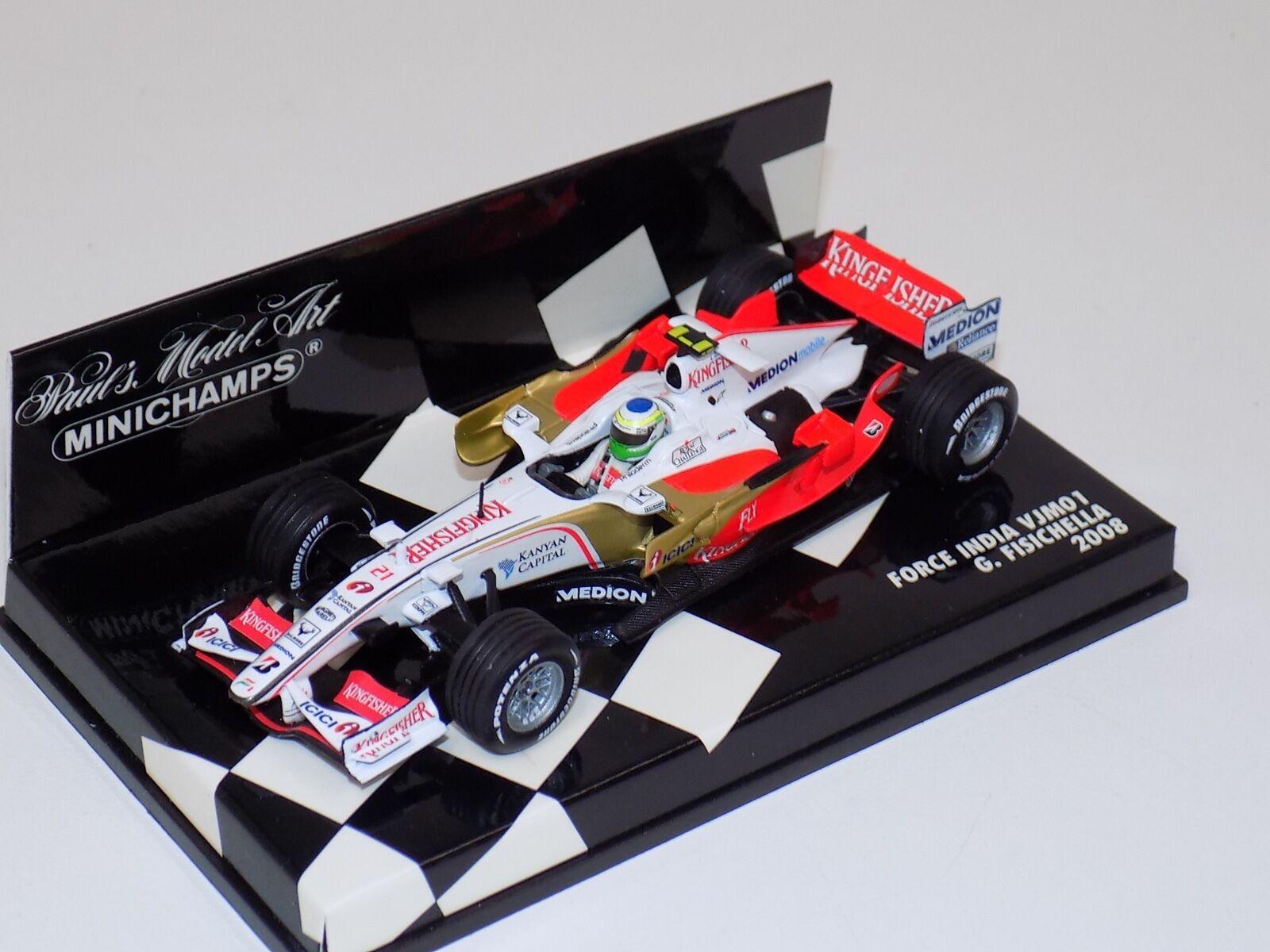 1 43 Minichamps F1 Formula 1 Force India VJM01  King Fisher 2008 G.Fisichella
