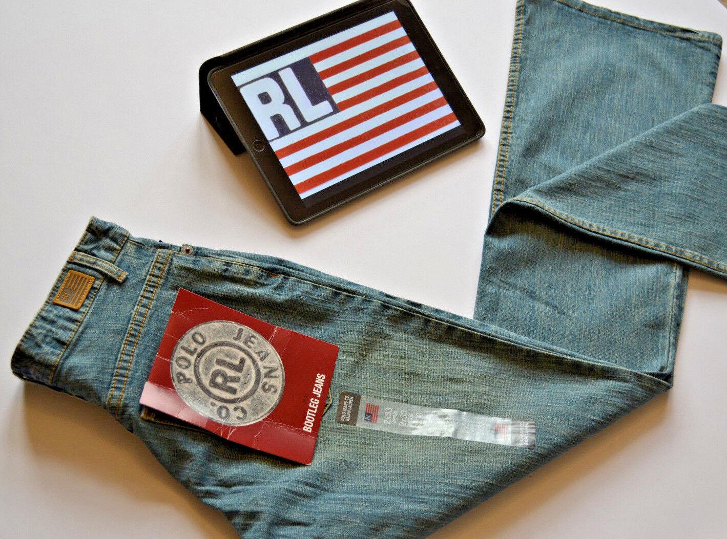 Ralph Lauren Polo Womens Jeans Retro Bootleg Old bluee W27 L33