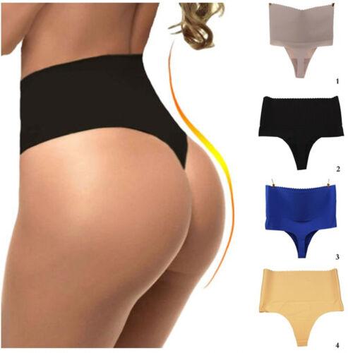 Women Body Shaper Thong G String High Waist Tummy Control Invisible Underwear:/<