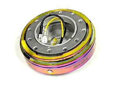 VMS RACING THIN SHORT SLIM QUICK RELEASE NEO CHROME FOR NRG STEERING WHEEL