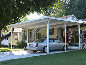24 X 24 Free Standing Aluminum Carport Kit 025 Or Patio Cover