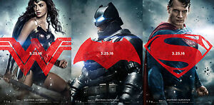 Image Is Loading BATMAN Vs SUPERMAN Mini Sheet Movie Posters SET