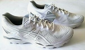 Details about ASICS Gel Kayano 23 WHITE SNOW SILVER T737N 0100 MEN SHOES SIZE 10, 11, 12