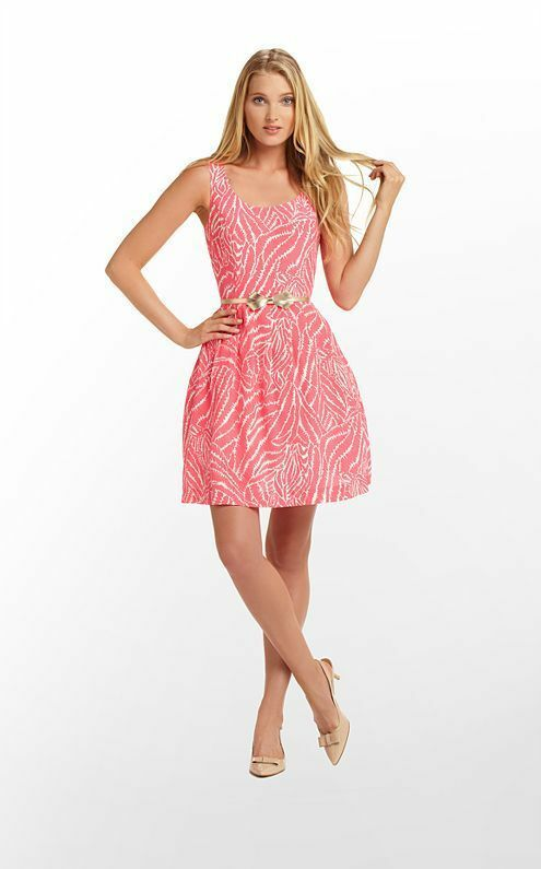 NWT LILLY PULITZER POSEY DRESS IN SPLASH Rosa SHOW YOUR STRIPES SZ 2 MSRP