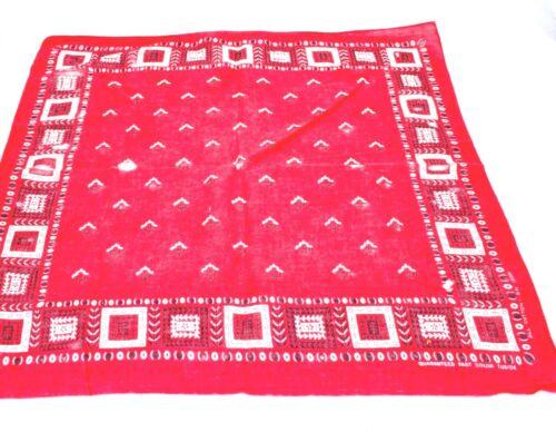 Vintage Tuside color Fast Color Bandana Red 100% C