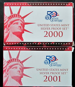 US-Mint-Silver-Proof-Sets-2000-and-2001
