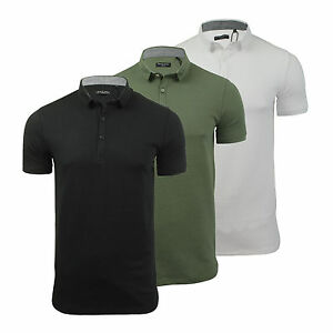 Mens-Polo-T-Shirt-Brave-Soul-Shield-Cotton-Collared-Short-Sleeve-Casual-Top