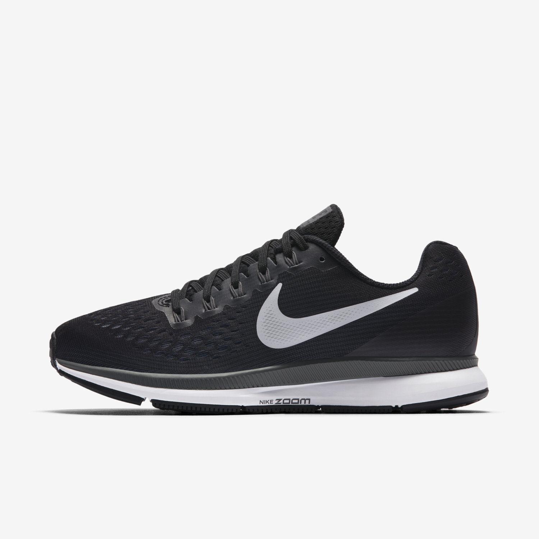 Womens Nike Air Zoom Pegasus 34  (Wide) Black White Grey 880561-001 Multi Sizes