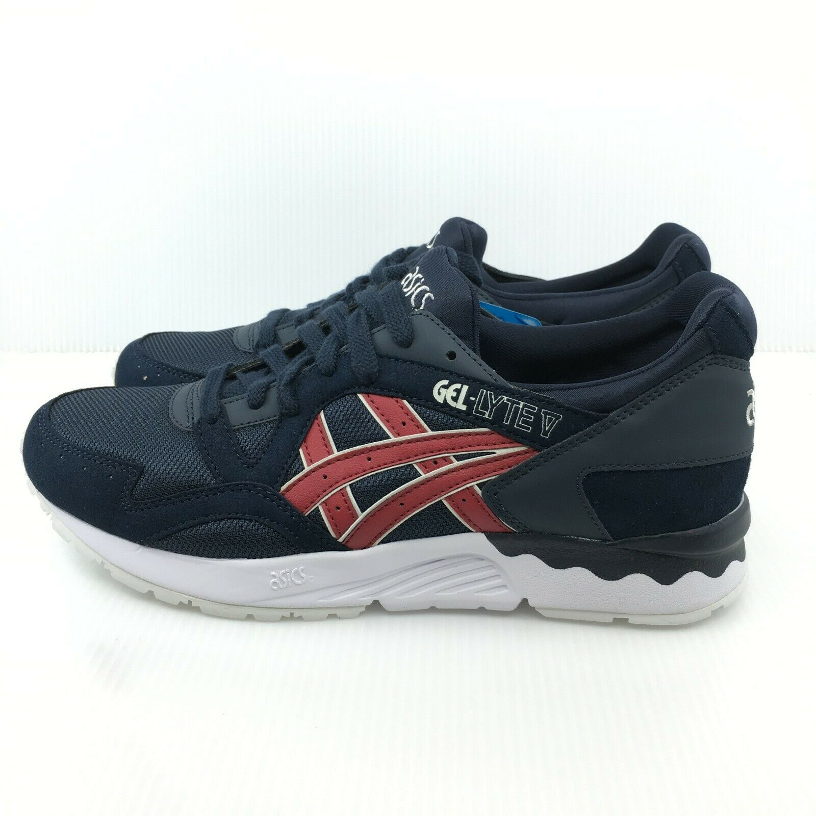 Asics Gel Lyte V 5 Indi Ink Navy bluee Burgundy White HN6A4-5026 Trainer Running