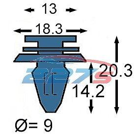 50x Pilastro Tagliare Pannello Interno E PORTA CARD Clip Trim-come la HONDA 91560s6a003