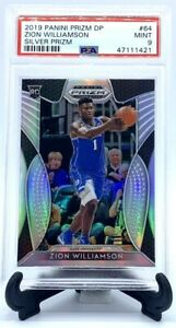 2019 Prizm DP SILVER REFRACTOR Pelicans ZION WILLIAMSON RC CARD PSA 9 MINT