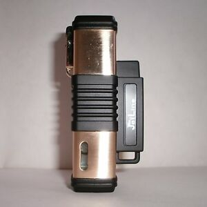 JetLine New York Quad Flame Torch Cigar Lighter - Gold - Special Deal