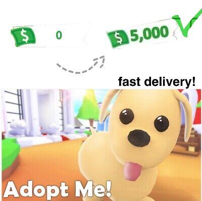 Roblox Adopt Me 5000 Bucks Fast Delivery Read Desc Ebay