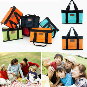 Rectangle Portable Large Insulated Thermal Lunch Carry Tote Storage Picnic Bag