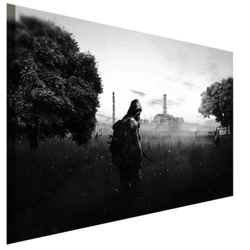 Stalker Spiel Leinwandbild AK Art Bilder Wanddeko Wandbild Premium Kunstdruck