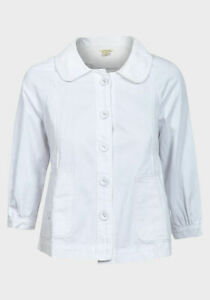 'papaya' Cotton Job Ladies X 9 White Lot Jacket vtP0Pwqr