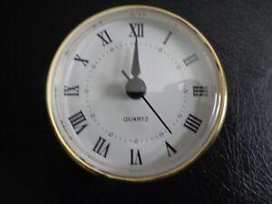 2 34 70mm Quartz Clock Fit Upinsert Roman Numeral White Face - 3-roman-numerals-clocks