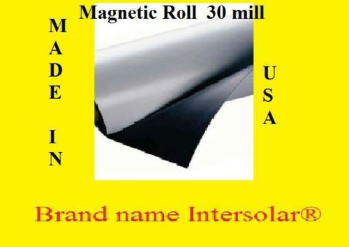 """24/"""" width x 50 Ft ROLL 30 Mil Magnetic Sign Sheet  Car ok  free 3m squeegee"""