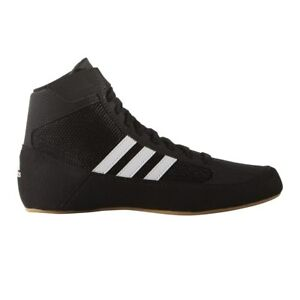the latest 3f306 1a1cc Image is loading Adidas-HVC-2-Senior-Wrestling-Shoes-AQ3325-Black-