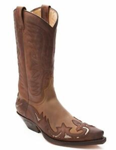 Sendra-3242-Western-Boots-Sprinter-7004-Tang-Brown-Leather-Ankle-Biker-Shoes