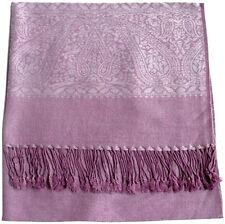 Luz púrpura patrón de Paisley Bufanda Envolvente Chal Pashmina Estola CJ Apparel ** nuevo **