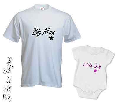 Klug Daddy Dad & Daughter Little Lady Matching T-shirt Tee & Babygrow Top Baby Grow