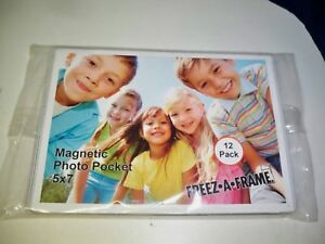 Pack Of 12 Freeze A Frame Piece Magnetic Photo Pockets