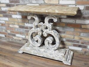 Rustic painted console table sideboard distressed shabby chic ebay