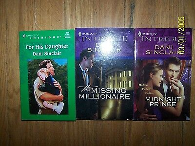 Lot 3 different Dani Sinclair Romance Novels in Good Condition
