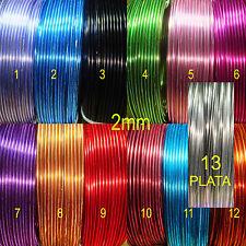 1 Rollo Alambre 5 Metros Aluminio 2mm Color a Escoger Aluminium Wire σύρμα Fil