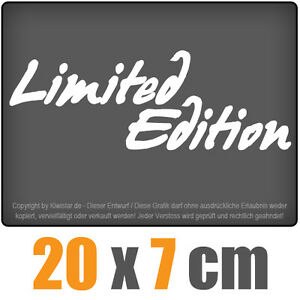 Limited-Edition-20-x-7-cm-JDM-decal-sticker-coche-car-blanco-discos-pegatinas