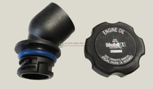 10-14 LS3 L99 Valve Cover Oil Filler Tube w// Mobil 1 Cap NEW 2-TAB