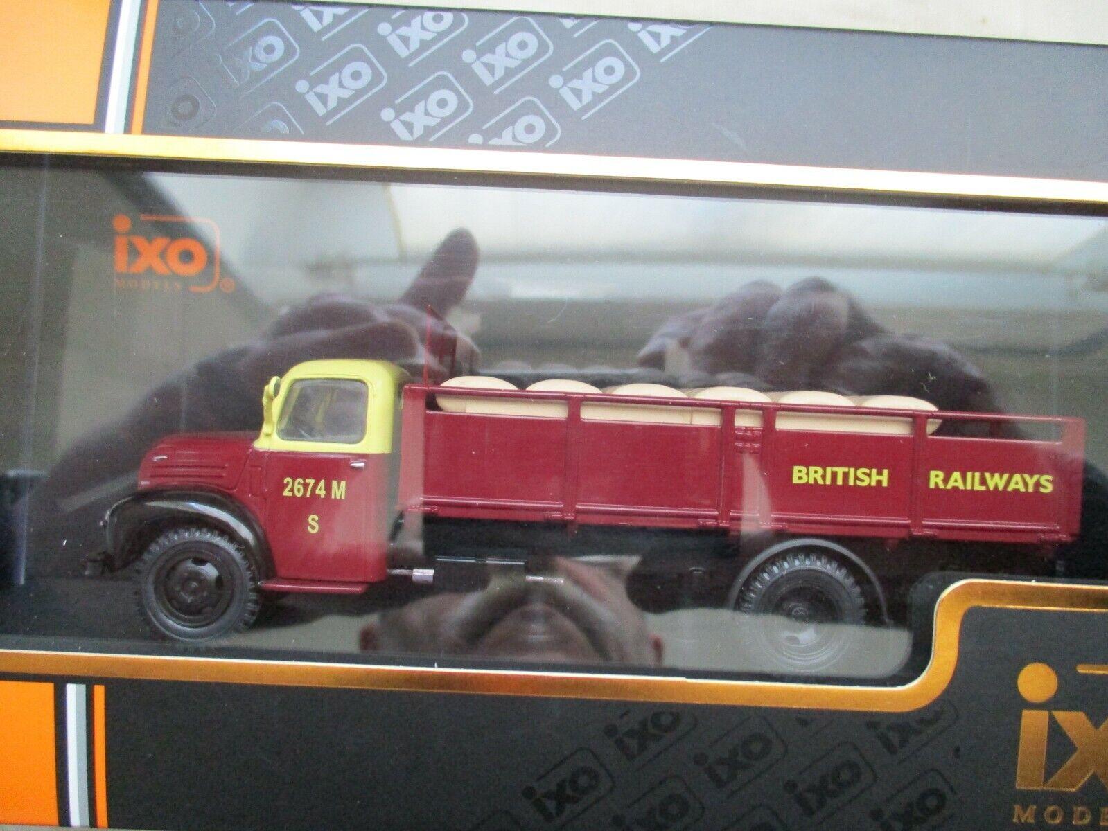 MINIATURA CAMIÓN FORD THAMES ET6 1953 TRU018 1 43 CAJA PLEXI BRITISH RAILWAYS
