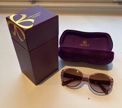 100% Vero Velvet Eyewear Occhiali Da Sole Viola-mostra Il Titolo Originale