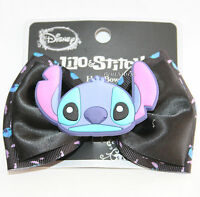 Disney Lilo & Stitch Face Rubber Button Bow Tie Hair Clip Pin Costume Dress Up