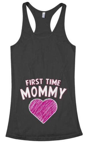 Threadrock Women/'s First Time Mommy Racerback Tank Top gift expecting mom