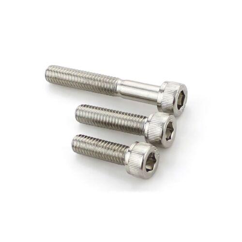 Socket Head Cap Screws M8*10-50mm 12.9 High Tensile Nickel Plated Allen Bolts