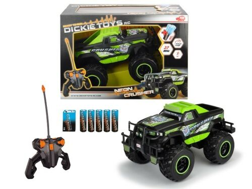Ready To Run Dickie Toys 201119108-1/16 RC Neon Crusher Neu