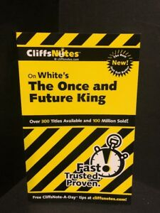 Cliffs-Notes-White-039-s-THE-ONCE-AND-FUTURE-KING-Brand-NEW