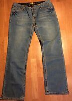 Nwts Size 16 Iron Horse Slim Fit Boot Cut Low Rise Womens Denim Jeans Distressed