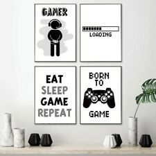 Born To Game Kid Room Decor Wall Art
